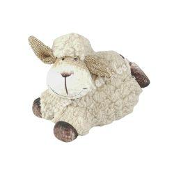 Bolyhos, fekvő bárány, bézs, 10,5x9 cm