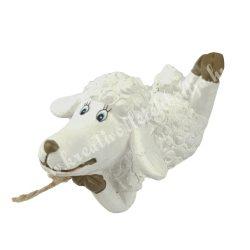 Kerámia, fekvő bárány, 8x4 cm