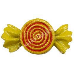 Ragasztható  sárga cukorka
