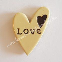 Ragasztható szív, Love felirattal