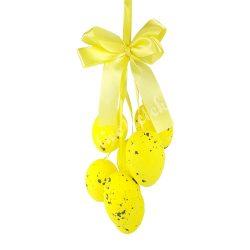 Akasztós sárga tojásos dísz