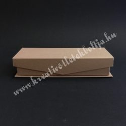 Papírdoboz, tégla, mágnessel záródó tetejű, kicsi, 16,5x6 cm