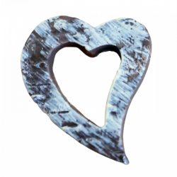 Ragasztható szív, antikolt, 2,3x2,8 cm
