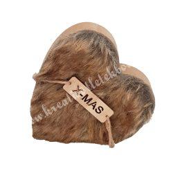 Fa szív, szőrmés
