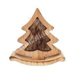 Hintázó fa fenyő, szőrmés, 20,5x20,5 cm