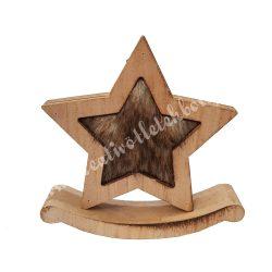 Hintázó fa csillag, szőrmés, kicsi