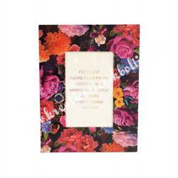 Virágmintás papír képkeret