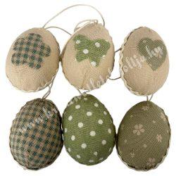 Akasztós textil tojás 6 db/csomag
