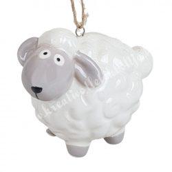 Akasztós dísz, porcelán bárány, 6,5x5,5 cm