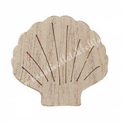 Kagyló fából, 4x0,7x3,8 cm
