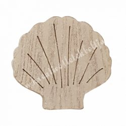 Kagyló fából, 4,7x0,7x4,5 cm