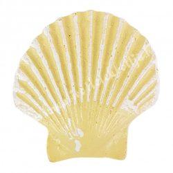 Ragasztható fésűkagyló, sárga, 3x2,5 cm