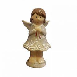 Kerámia angyalka, szürke, nagy