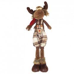 Textil rénszarvas, álló, barna-bézs, fiú, 52 cm