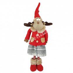 Textil álló rénszarvas, lány, 55 cm