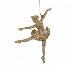 Akasztós, glitteres arany balerina