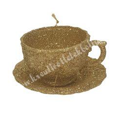 Akasztós, glitteres arany csésze aljjal