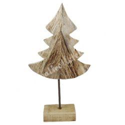 Fadekoráció, fenyőfa talppal, 24,5x47 cm