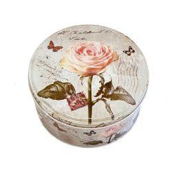 Rózsás fémdoboz