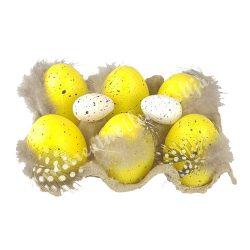 Műanyag tojás dobozban, sárga