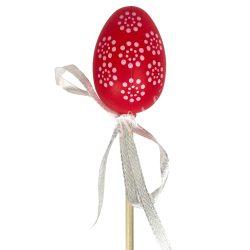 Beszúrós tojás, kicsi, piros