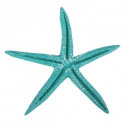 Ragasztható tengeri csillag, türkiz, 6,8x6,8 cm