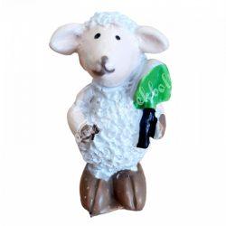 Fehér bárány, zöld lapáttal