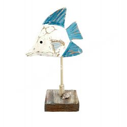Fa hal, kék-fehér, 13,5x23 cm