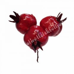 Betűzős piros gránátalma, 3 darab/csokor