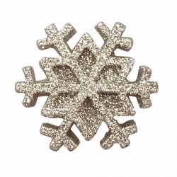Ragasztható hópehely, ezüst