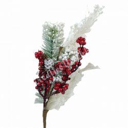 Havas, piros bogyós ág, 45 cm