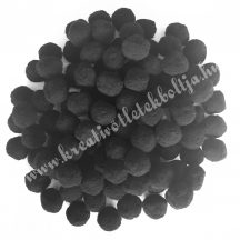 Pompon, fekete, 2 cm