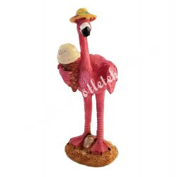 Flamingó fagyival, 3x8,5 cm