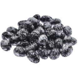Fekete, márványmintás tojás, kicsi