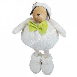 Álló bárány zöld csokornyakkendővel