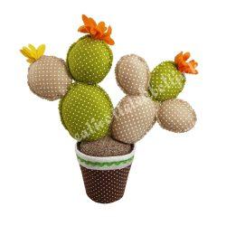 Kaktusz dekor, textil, 29x28 cm