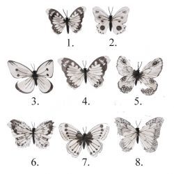 Csipeszes pillangó, 8 féle