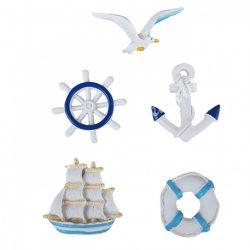Ragasztható tengeri figurák, 5 db/csomag