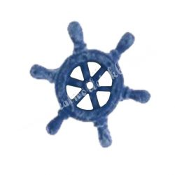 Ragasztható kék hajókormány, 2,5x2,5 cm