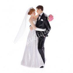 Polyresin esküvői pár, ölelkező