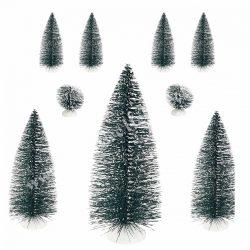 Fenyő dekoráció havas, zöld