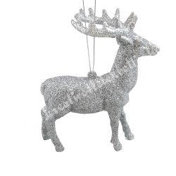 Akasztós, ezüst szarvas