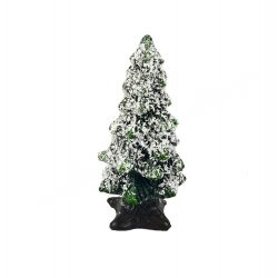 Polyresin havas zöld fenyőfa, 2,8x6 cm
