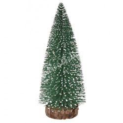 Zöld fenyőfa, havas, 12 cm