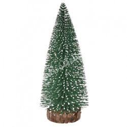 Zöld fenyőfa, havas,  21 cm