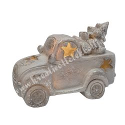 Szürke furgon fenyőfával, led világítással