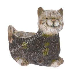 Polyresin cicás kerti kaspó