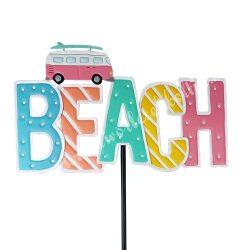 """Fém betűző, """"Beach"""" felirattal, 41,5x60 cm"""