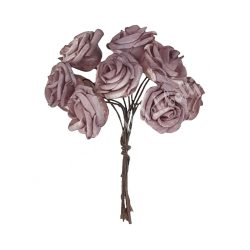 Polifoam rózsa, lila, 10 szál/csokor