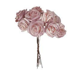 Polifoam rózsa, lilás rózsaszín, 10 szál/csokor